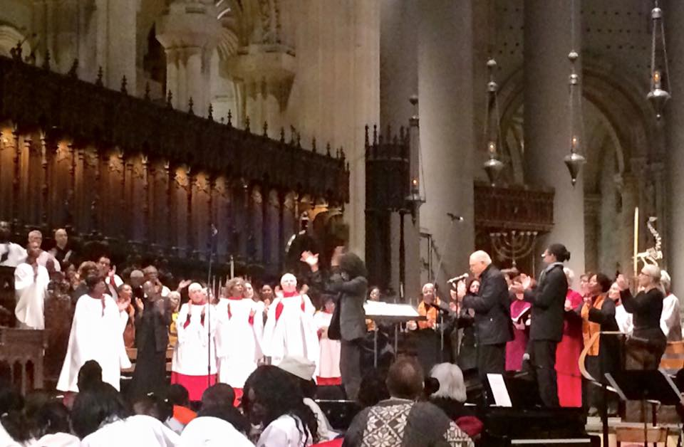 CONDUCTING AT THE CATHEDRAL OF SAINT JOHN THE DIVINE....